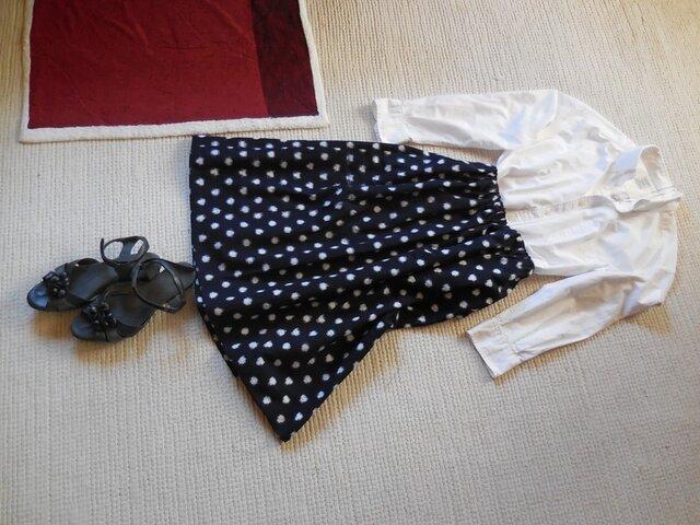 セール!みずたまの久留米絣のスカート(みずたまの大きさ1.5cm)の画像1枚目