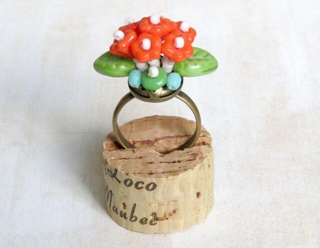 フラワーブーケの指輪(ビビッド)の画像1枚目