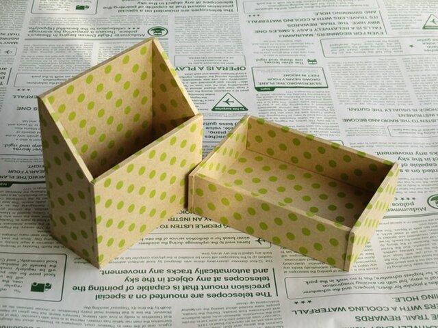 水玉の小箱セット(アップルグリーン)の画像1枚目