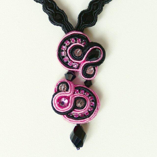 ネックレス Black x Pinkの画像1枚目