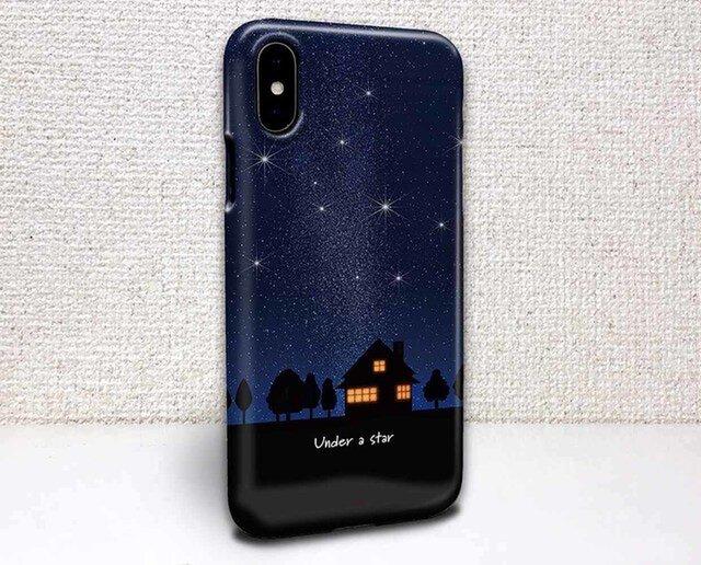 iphone ハードケース iPhoneX iphone8 iphone8 plus iphone7 星空 星の下で灯るの画像1枚目