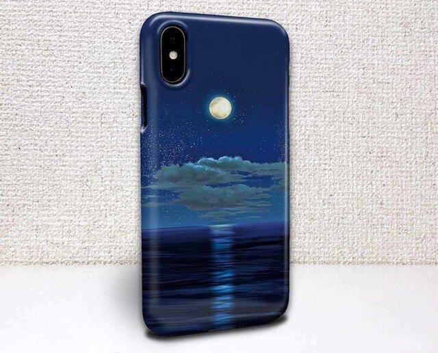 iphone ハードケース iPhoneX iphone8 iphone8 plus iphone7 星空 月明かりの道の画像1枚目