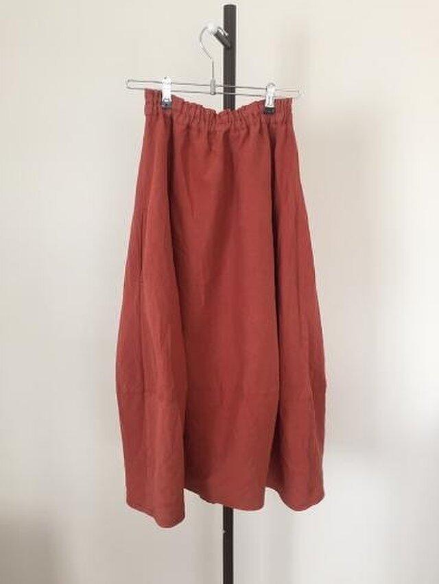 カラーリネンのバルーンスカート M~Lの画像1枚目