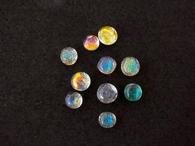 ヒュージンググラス5個セット(透明色+ダイクロガラス)の画像1枚目