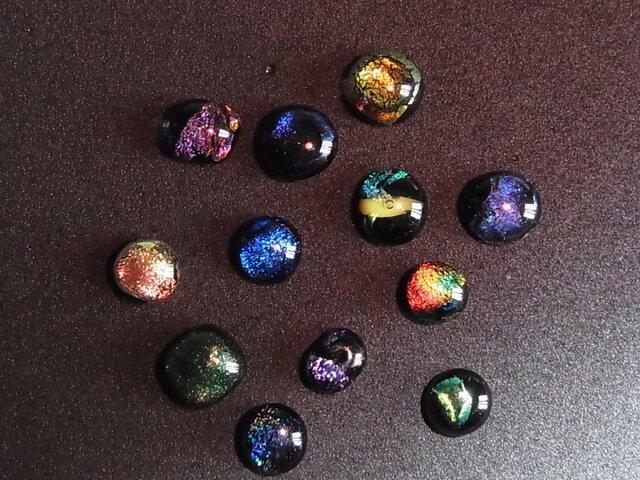 ヒュージンググラス5個セット(ダイクロガラス)の画像1枚目