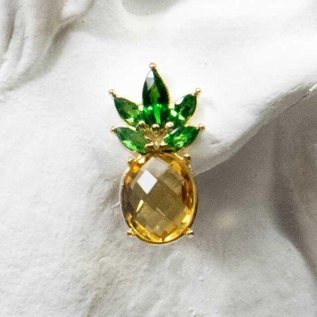 CPe-004 Pineapple Pierce パイナップルピアス 片耳 Not a pairの画像1枚目