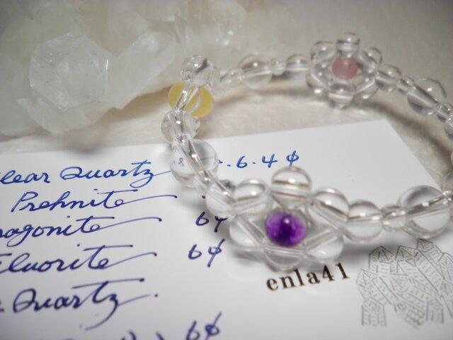 水晶 天然石ブレスレットの画像1枚目