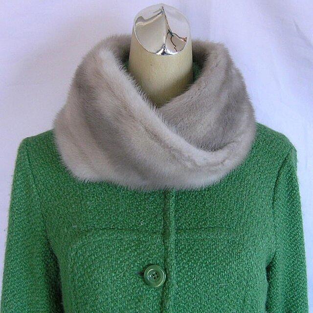¶ new antique fur ¶ サファイアミンクnejiriスヌード「pisa」の画像1枚目