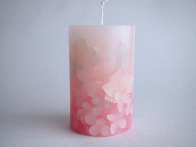 桜色のアロマボタニカルcandleの画像1枚目
