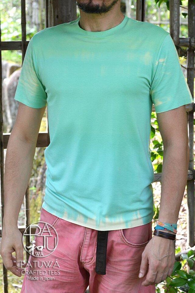 絞り染めTシャツ ミントグリーンの画像1枚目
