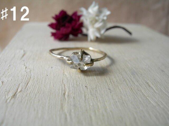 真鍮 ハーキマーダイヤモンドリングの画像1枚目