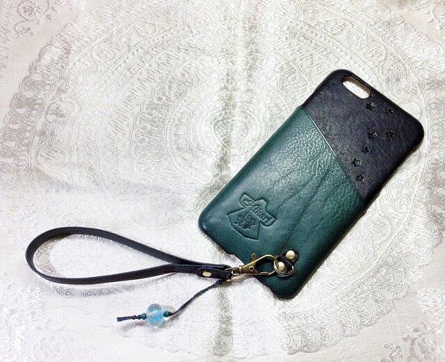 iPhone6plus対応「お財布ケータイ」仕様カバー『海星』の画像1枚目