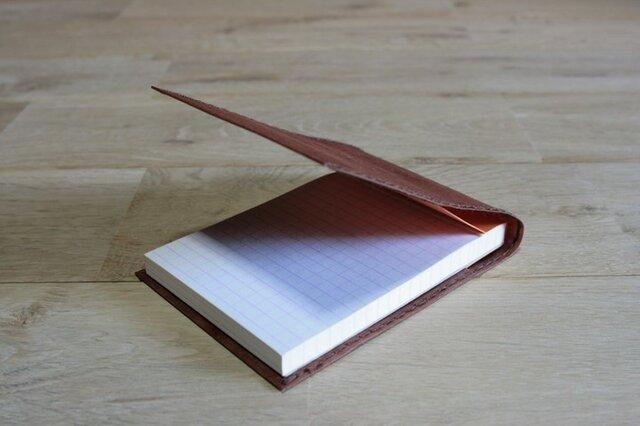 ロウ引き和紙のメモケース(柿渋染)の画像1枚目