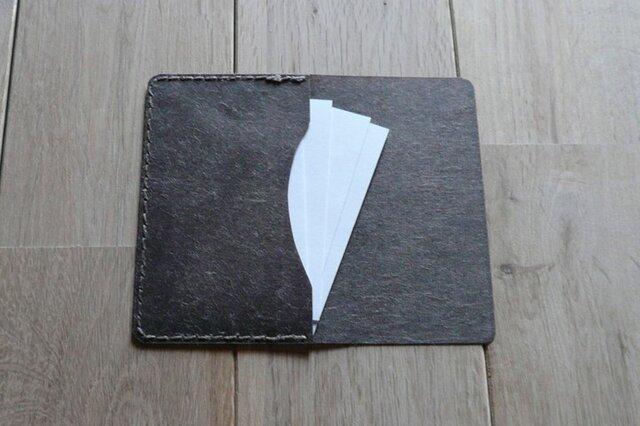 ロウ引き和紙のカードケース (ログウッド)の画像1枚目