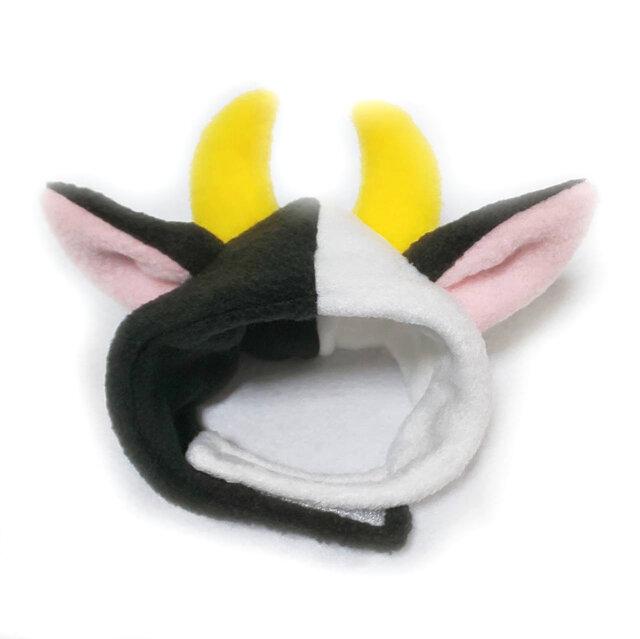 犬猫用かぶりもの 牛のかぶりもの(帽子)の画像1枚目