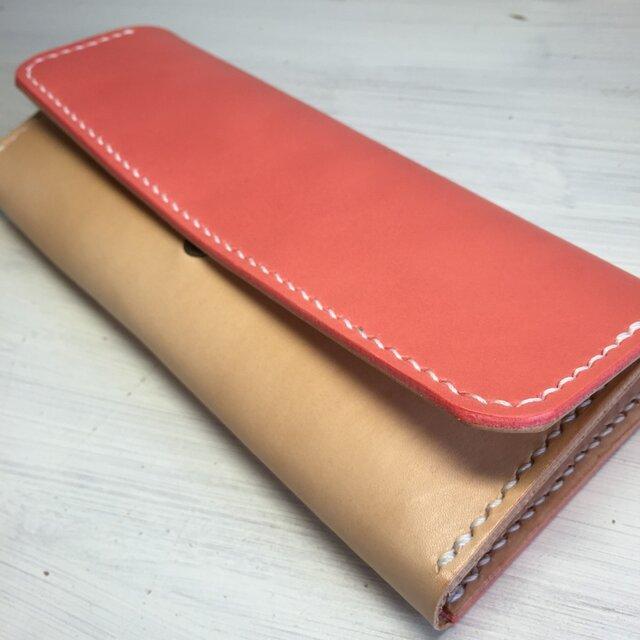 【春色桜色♫】収納力バツグンな三つ折り財布の画像1枚目