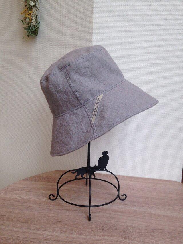 オーダー グランジリネンマニッシュな帽子の画像1枚目