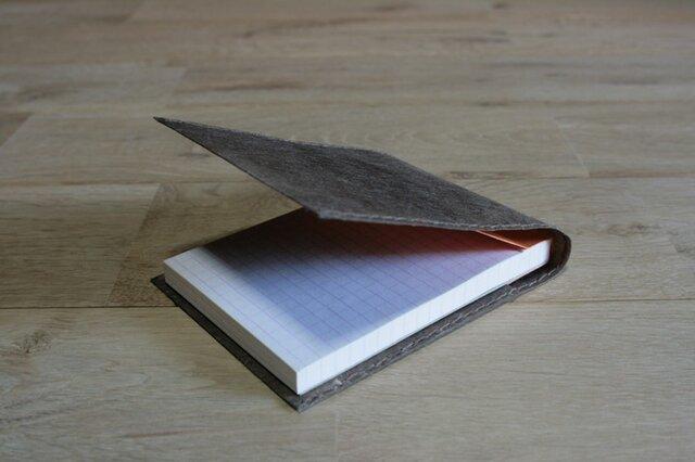 ロウ引き和紙のメモケース(焦茶)の画像1枚目