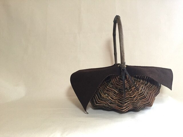 Willow Basket Velour Bagの画像1枚目