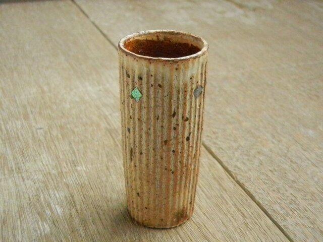 モルフォ象嵌 背の高い酒盃 しのぎ丸の画像1枚目