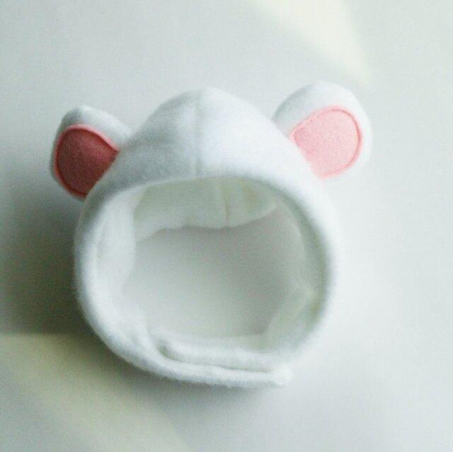 白くまのかぶりもの(帽子)【S/M/L】の画像1枚目