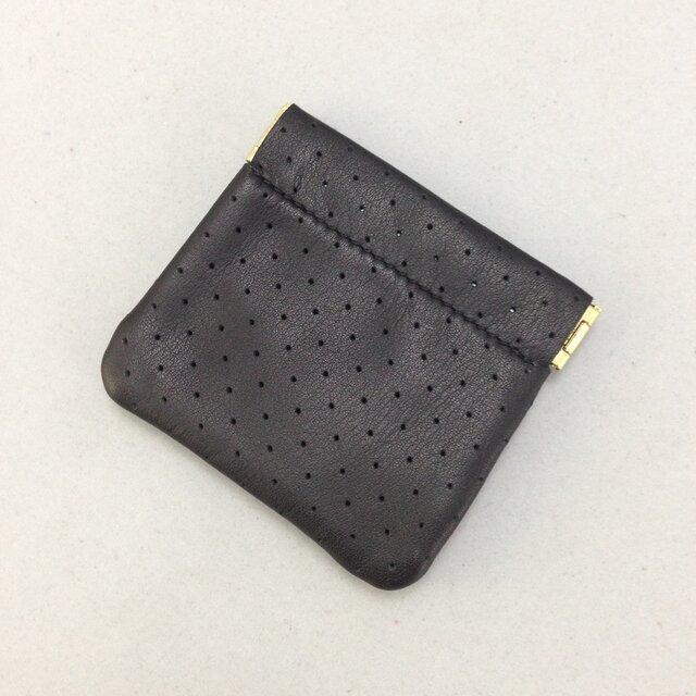 シンプルな板バネ口金コインケース(クロ)の画像1枚目