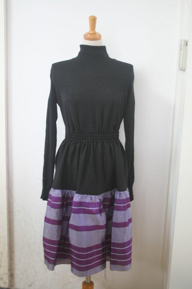 銘仙の二段スカートの画像1枚目