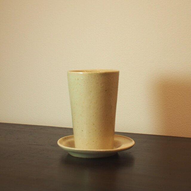 スっと、手持ちが軽いカップ。Cold drinkにオススメ!ソーサセット! 250mlの画像1枚目