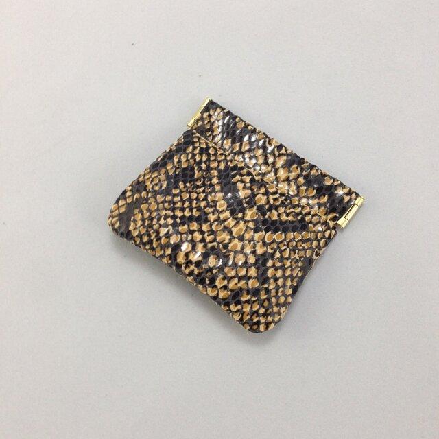 シンプルな板バネ口金コインケース(茶)の画像1枚目