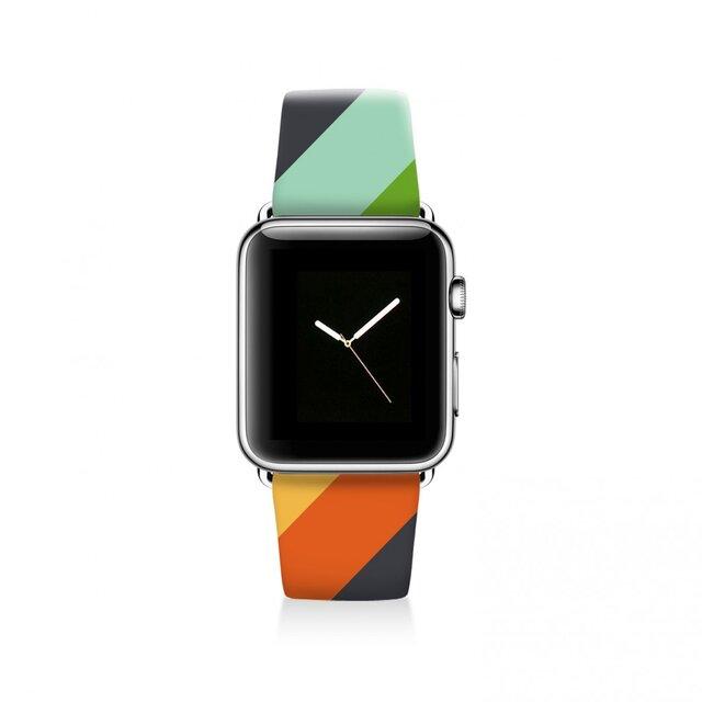 本革☆Apple Watch アップルウォッチ バンド ファッション ベルト 交換 ベルト 042の画像1枚目