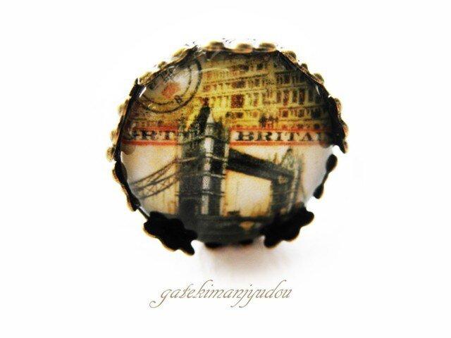 タワーブリッジのアンティーク風リングの画像1枚目
