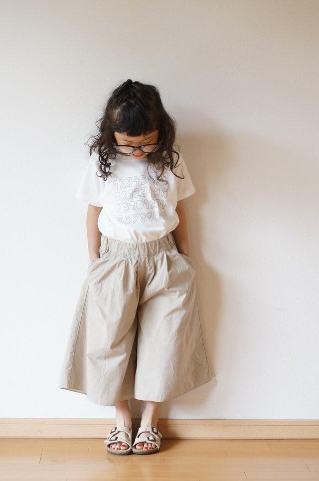 Cotton typewriter wide pants 90,100の画像1枚目