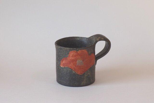 再販:紅椿紋マグカップの画像1枚目