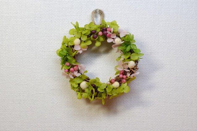 グリーンいっぱい♡可愛い春のミニリース♪の画像1枚目