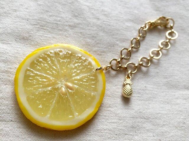 レモン & パイン チャームの画像1枚目