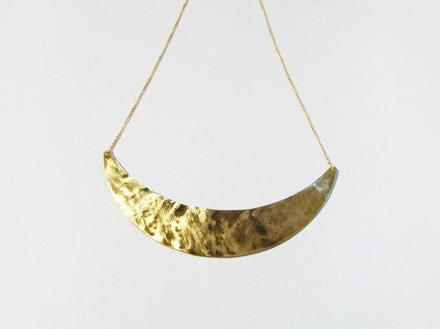 (再販)真鍮の三日月ネックレスの画像1枚目
