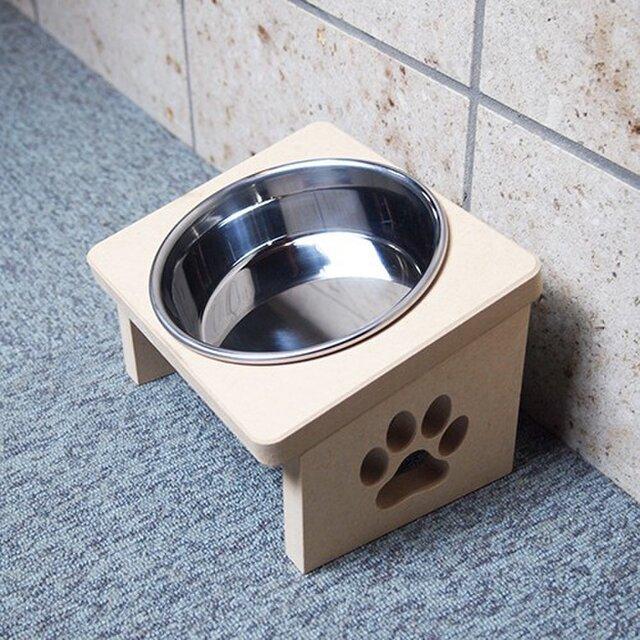 猫用 食器台 S 肉球デザインの画像1枚目