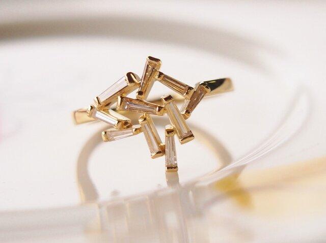 「S様お取り置き K18テーパーダイヤ・指輪」の画像1枚目