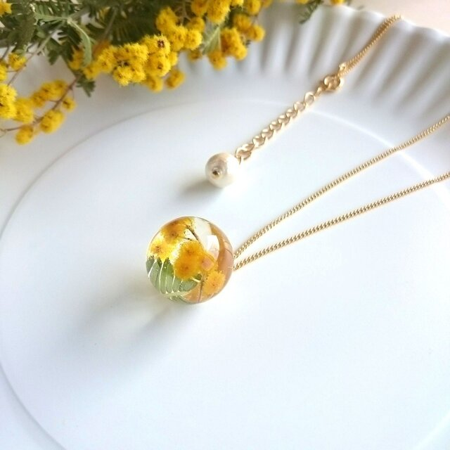 Mimosa♥ドームネックレスの画像1枚目