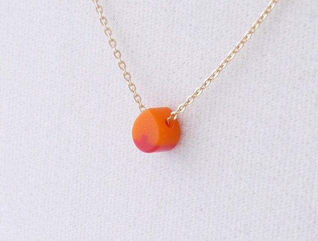 ネックレス Drop micro 橙 × 赤の画像1枚目