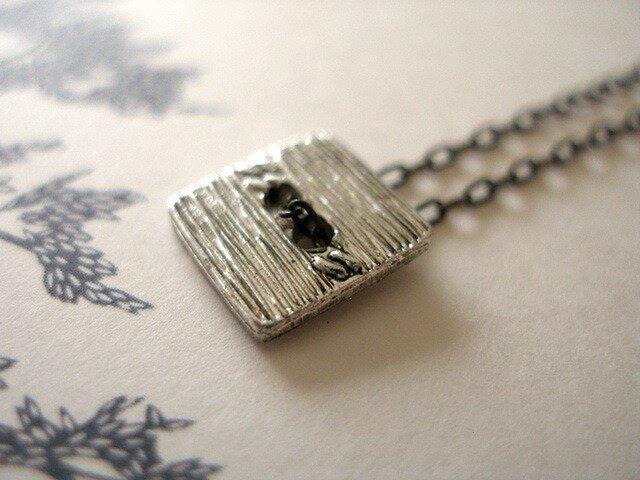 銀四角ネックレスの画像1枚目