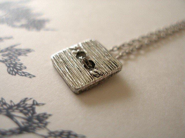 銀四角ネックレス2の画像1枚目