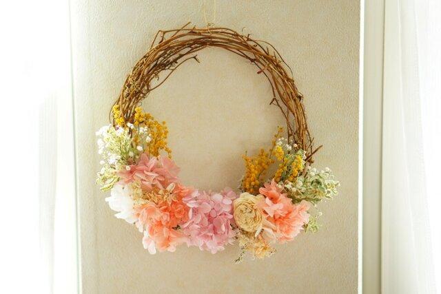 pink wreathの画像1枚目