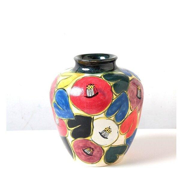 椿の色絵壺(三年寝太郎の壺)の画像1枚目