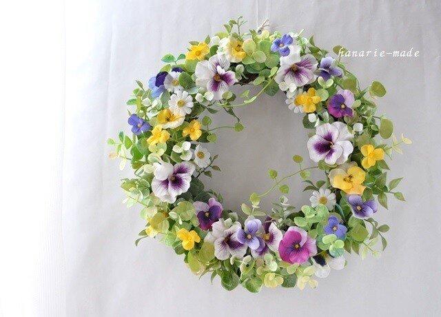 order Aさま すみれ と ハートカズラ:wreathの画像1枚目