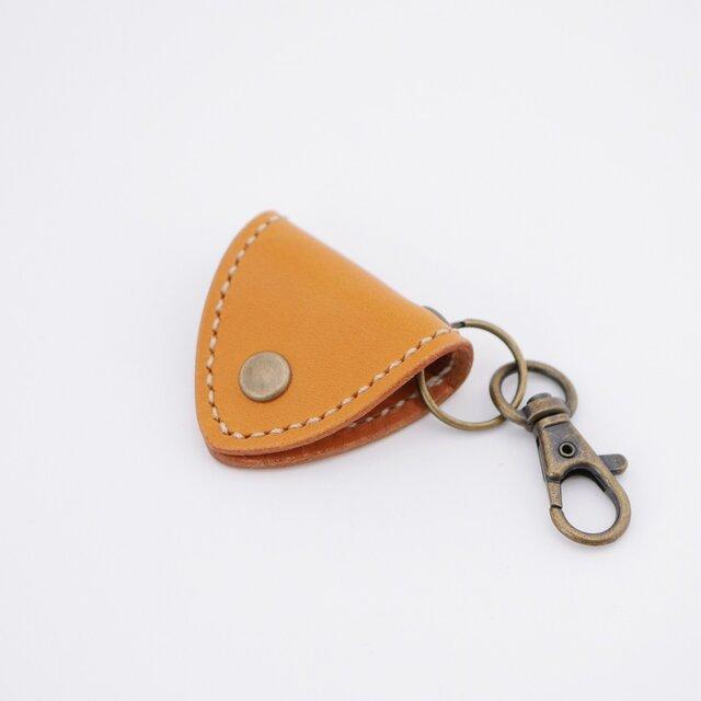 Guitarpick holder - camel -の画像1枚目