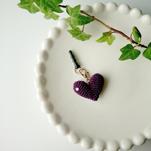 HEART イヤホンジャック(紫)の画像1枚目