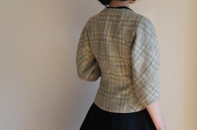ツボミ膨らむお袖のジャケット Joe イタリア製シルクリネン◆1点物◆ の画像1枚目