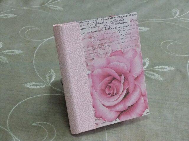 ★お名前入り★  my メモ帳ホルダー *薔薇と文字*の画像1枚目