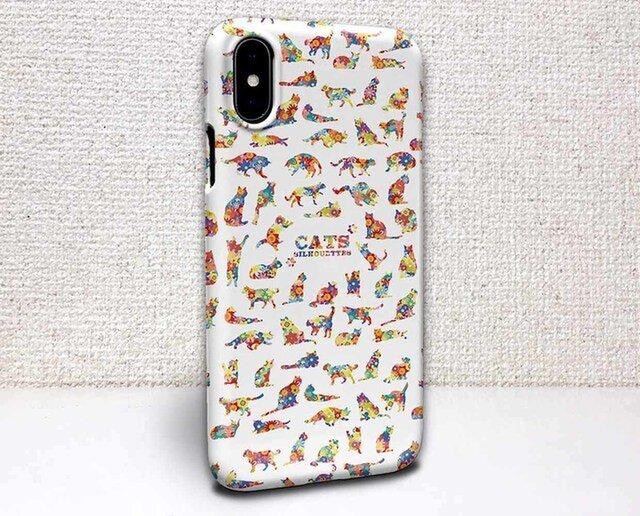iphone ハードケース iPhoneX iphone8 iphone8 plus iphone7 猫 猫のシルエットの画像1枚目